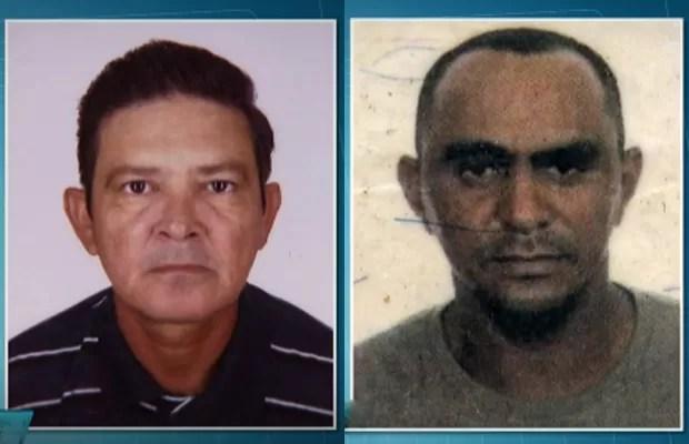 José Airton de Andrade e Raimundo Barbosa dos Santos morreram após serem atropelados quando pintavam a ciclovia (Foto: TV Globo/Reprodução)