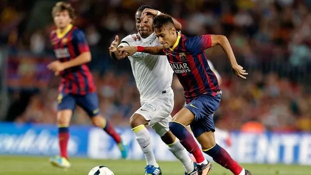 Neymar jogo Barcelona e Santos (Foto: AFP)