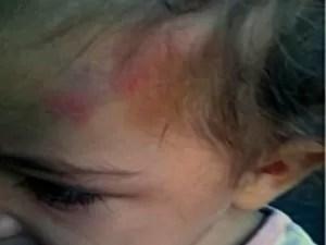 Mãe e padrasto são suspeitos de matar bebê de 1 ano, em Goiás (Foto: Reprodução/TV Anhanguera)