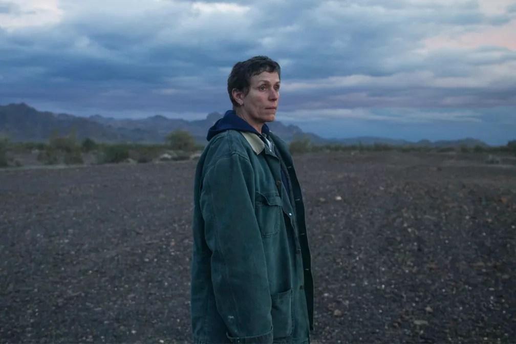 Frances McDormand  em 'Nomadland' — Foto: Divulgação