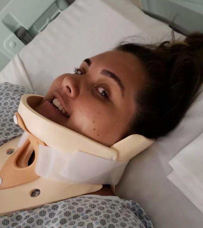 Karina Neustadter Castellanos já começou tratamento para recuperar os movimentos — Foto: Arquivo Pessoal