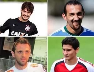 Pato, Barcos, Montillo e Ganso montagem (Foto: Editoria de Arte/Globoesporte.com)