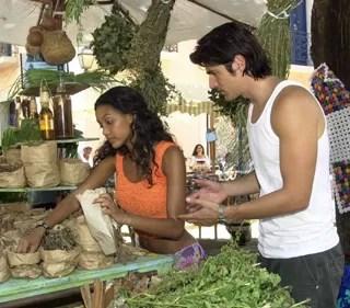 Os destinos de Paco e Preta se cruzam no Maranhão (Foto: Gianne Carvalho/TV Globo)