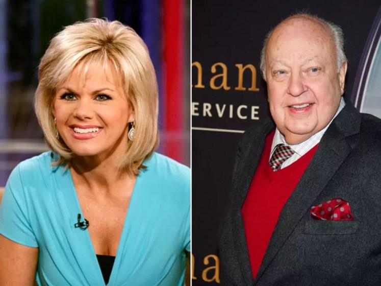 Gretchen Carlson, ex-âncora do Fox News, em foto de 2010; à dir., Roger Ailes, que ela acusa de assédio sexual, em foto de 2015 (Foto: Richard Drew/AP e Charles Sykes/Invision/AP )