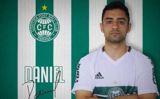 Daniel jogou pelo Coritiba em 2017; ele foi encontrado morto no sábado (27), em São José dos Pinhais — Foto: Divulgação/Coritiba