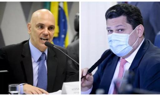 Alexandre de Moraes e Davi Alcolumbre