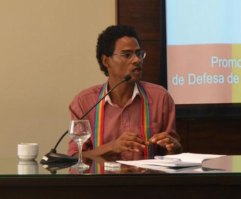 André Lopes, André Lopes, diretor de relações institucionais da União Nacional LGBT (Foto: Jéssica Alves/G1)