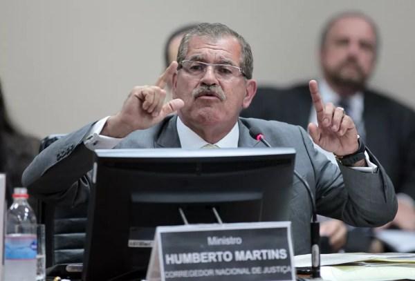 O corregedor do Conselho Nacional de Justiça, ministro Humberto Martins, durante sessão do Conselho em setembro deste ano — Foto: Gil Ferreira/ Agência CNJ