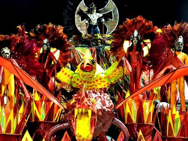 Desfiles ocorrem na Passarela do Samba, em São Luís (MA) (Foto: Divulgação / Liesma)