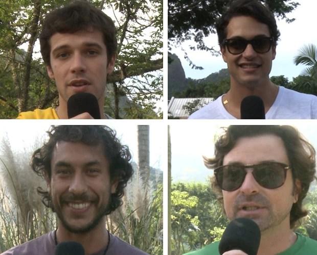 Jayme Matarazzo, Raphael Vianna, José Hnerique Ligabue e Emilio Orciollo preferem Neymar (Foto: Caldeirão do Huck/TV Globo)