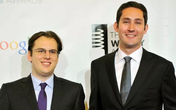 Fundadores do Instagram, Mike Krieger (esquerda) e Kevin Systrom, em Nova Iorque, em 21 de maio de 2012 — Foto: Stephen Chernin / Arquivo / Reuters