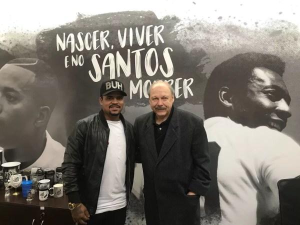 Diogo Vitor se reuniu com o presidente José Carlos Peres (Foto: GloboEsporte.com)