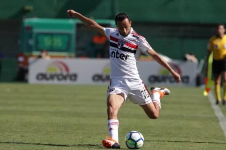 Nenê tem 57 jogos e 13 gols pelo São Paulo — Foto: Rubens Chiri / saopaulofc.net