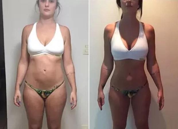 Thais Machado antes e depois de perder os dez quilos (Foto: Instagram / Reprodução)