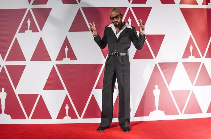 Lakeith Stanfield no Oscar 2021; ator participa da cerimônia direto de Londres — Foto: AP Photo/Alberto Pezzali