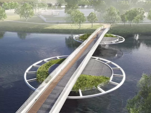Ponte vai ligar a estação de Santo Amaro da CPTM ao bairro do Socorro (Foto: Divulgação/Bayer)