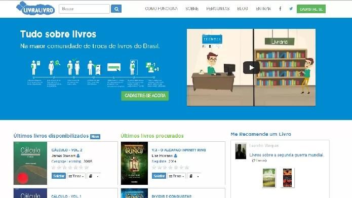 Além de apresentar centenas de autores e obras cadastradas, o Livralivro também tem sofisticado serviço para intercâmbio de livros (Fotos: Daniel Ribeiro)