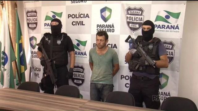 Flávio Acosta Riveros, que também é paraguaio, foi preso em Pato Branco em janeiro de 2016 — Foto: Reprodução/RPC