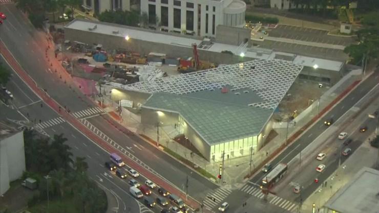 Estação São Paulo-Morumbi — Foto: Reprodução/TV Globo