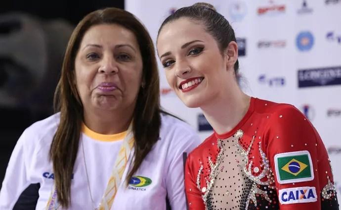 Natália Gaudio e Monika Queiroz no Mundial de Izmir (Foto: Ricardo Bufolin/CBG)