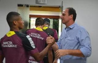 Rogério Ceni David Neres São Paulo (Foto: Erico Leonan / site oficial do São Paulo FC)