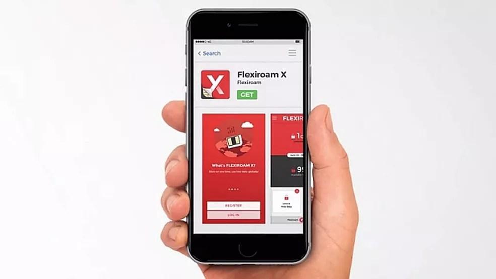 O Flexiroam X é controlado por um app (Foto: Divulgação/Flexiroam)