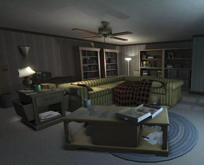 ESQUECERAM DE MIM: cartas, bilhetes e outros  documentos são a chave para os mistérios de Gone Home, que começa numa casa vazia (Foto: Reprodução)
