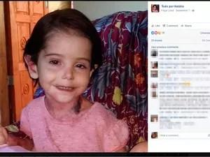 Menina de três anos mora com mãe na zona rural de Rio do Antônio (Foto: Reprodução/ Facebook)