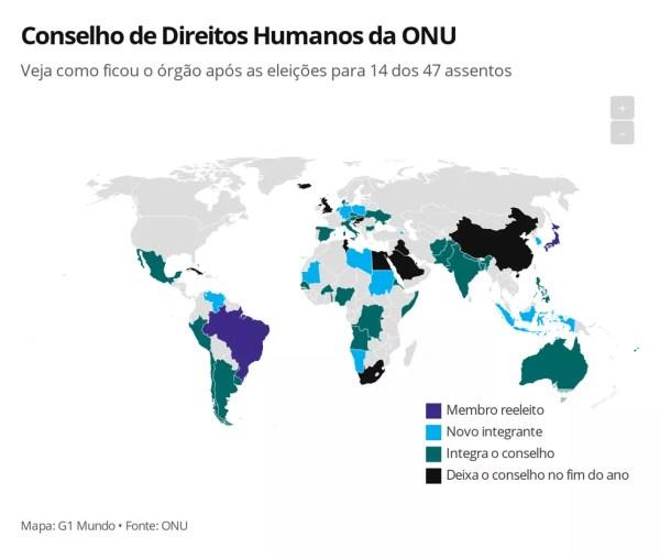 Conselho de Direitos Humanos da ONU — Foto: G1 Mundo