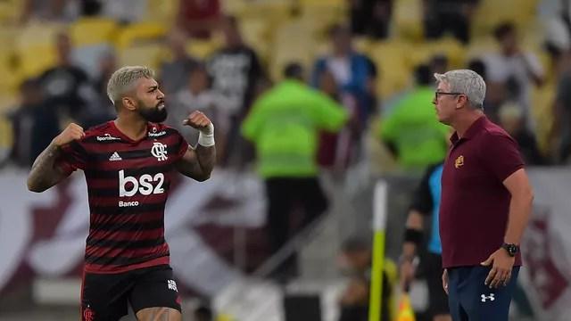 Gabigol comemora: Flamengo avança à final da Taça Guanabara