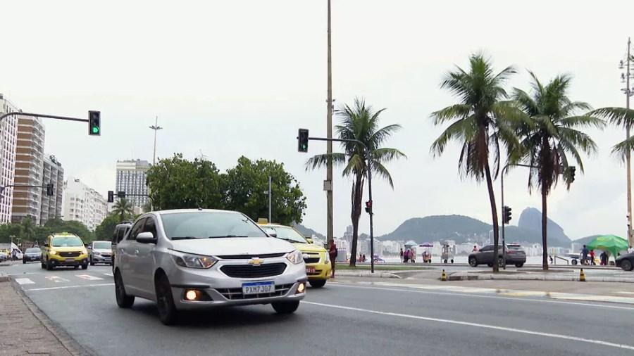 Avenida Atlântica, em Copacabana — Foto: Reprodução/TV Globo
