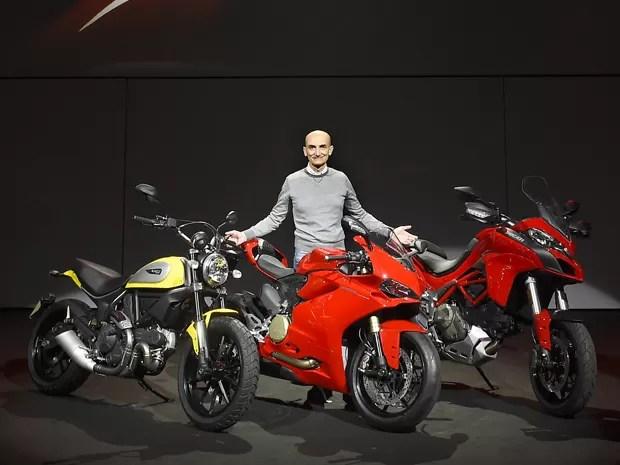 Claudio Domenicali, CEO, da Ducati, mostrou as novidades nesta segunda-feira (3), na Itália (Foto: Divulgação)