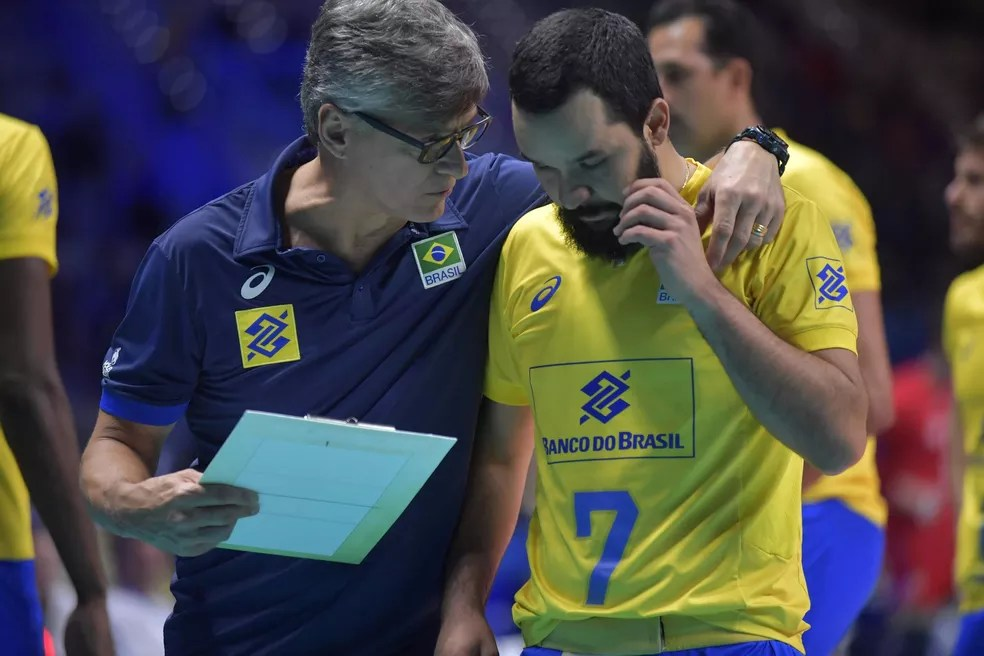 William Arjona - Brasil x Rússia Mundial de vôlei — Foto: FIVB