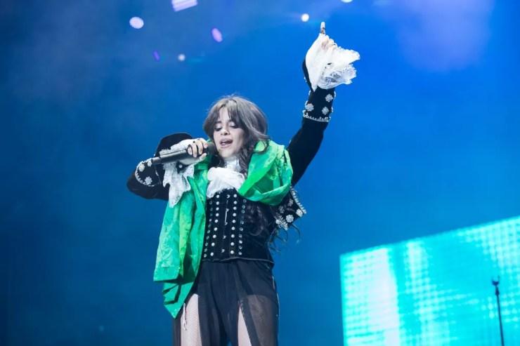 Camila Cabello no Z Festival em SP, neste domingo (14) — Foto: Celso Tavares/G1
