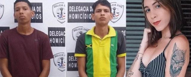 Luís Henrique Fernandes Filho, Alexandre Santos Silva e Layane Santos Santana são suspeitos de participar de homicídio e ocultação de cadáver em São Luís. — Foto: Divulgação/SSP-MA