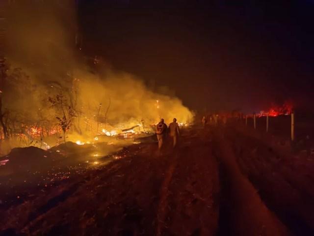 Incêndio foi controlado por bombeiros em Dom Aquino (MT) após 10 dias — Foto: Corpo de Bombeiros de Mato Grosso