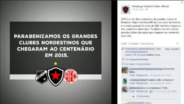 """Homenagem fail: Belo homenageia ABC e América, do RN, por centenário e """"esquece"""" o Campinense"""