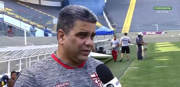 Marcelo Cabo, técnico do CRB — Foto: Arte - GloboEsporte.com