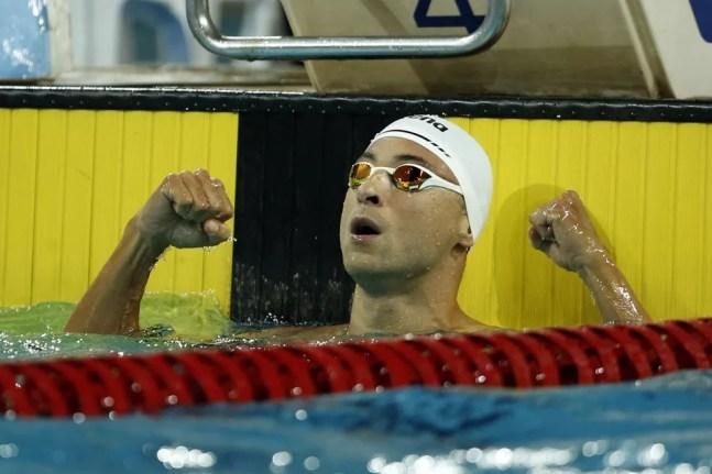 Felipe Lima conquistou a vaga olímpica nos 100m peito na seletiva da natação do Brasil  — Foto: Satiro Sodré/SSPress/CBDA