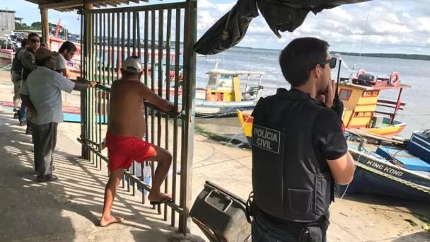 Crime aconteceu na praia do Centro de Cabedelo, na Paraíba (Foto: Walter Paparazzo/G1)