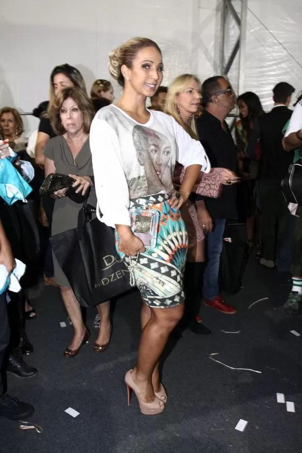 Valesca Popozuda no Fashion Rio (Foto: Wagner Santos / Foto Rio News)