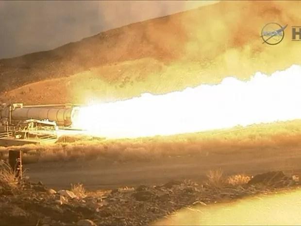 Foguete em teste pode chegar até Marte (Foto: Reprodução/Nasa/BBC)