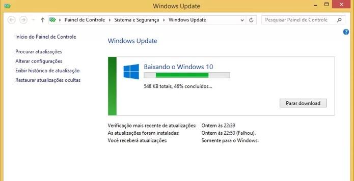 Verifique o download do Windows 10 (Foto: Reprodução/Paulo Alves)