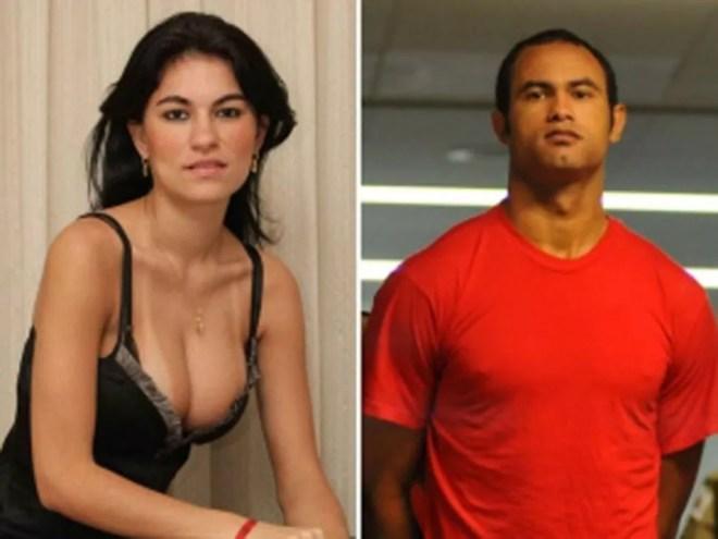 Eliza Samudio e o ex-goleiro Bruno — Foto: Reprodução/Arquivo pessoal/TV Globo