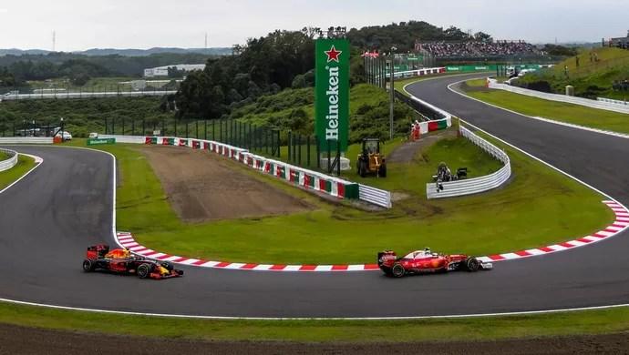 Ferrari foi melhor que a RBR no treino classificatório deste sábado em Suzuka (Foto: Getty Images)