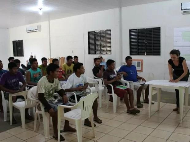 Índios são capacitados para protegerem o próprio território (Foto: Energia Sustentável do Brasil / Divulgação)