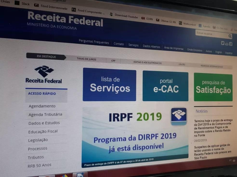 Imposto de Renda 2019 — Foto: Fernanda Zauli/G1