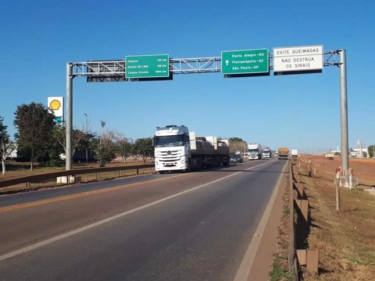 Trecho da BR-163 deve ser interditado por uma hora neste domingo em Rondonópolis (MT) — Foto: Rota do Oeste/Assessoria