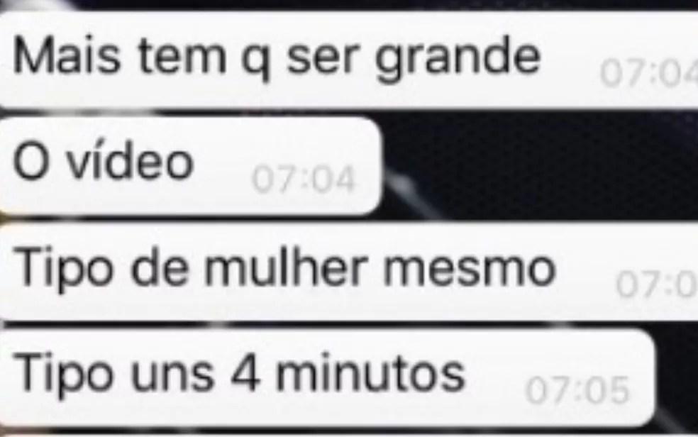 Prints de conversa pela internet entre vítima e suspeito de estupro virtual, Goiás — Foto: Divulgação/Polícia Civil