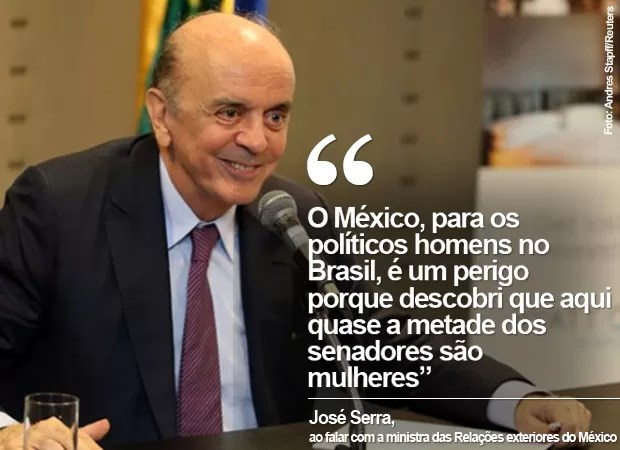 CARD: Ministro das Relações Exteriores, José Serra (Foto: Card/G1)